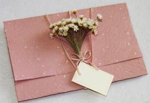 Convite de casamento Artesanal